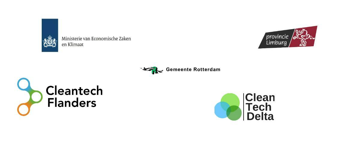 De logo's van de GIST-partners en co-financiers.